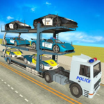City Police Car Transporter Truck Trailer Driving MOD Unlimited Money 2.0