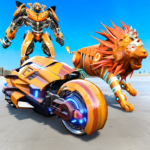 Lion Robot Transform Bike War Moto Robot Games 1.0.8 Premium Cracked