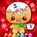 Happy Kids Christmas Coloring Book By Numbers MOD Unlimited Money 2.1