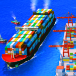 Sea Port Cargo Ship Town Build Tycoon Strategy MOD Unlimited Money 1.0.136