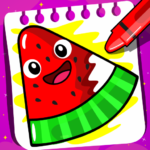 Fruits Coloring book Food Drawing book Kids Free MOD Unlimited Money 1.4