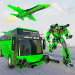 Army Bus Robot Transform Wars Air jet robot game MOD Unlimited Money 3.4