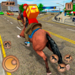 Mounted Horse Riding Pizza Guy Food Delivery Game MOD Unlimited Money