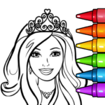 Princess Glitter Coloring Book and Girl Games (MOD, Unlimited Money) 8.0